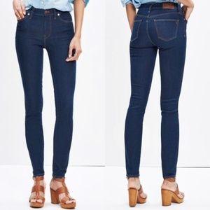 "Madewell | 9"" High Riser Skinny Jeans Dark Wash 27"